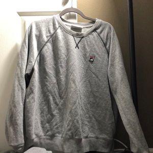 Grey fila sweatshirt